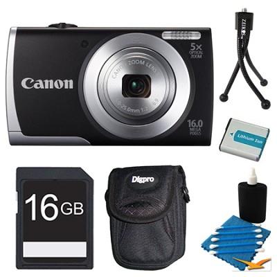 Powershot A2500 Black Digital Camera 16GB Bundle