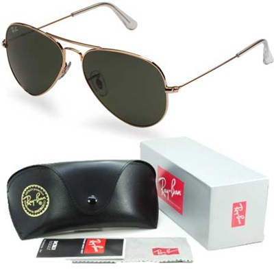 Aviator Classic Metal Sunglasses Gold 55mm