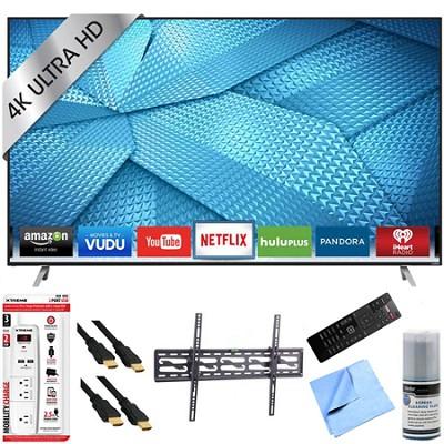 M50-C1 - 50-Inch 120Hz 4K UHD M-Series LED Smart HDTV Tilt Mount/Hook-Up Bundle
