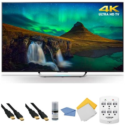 XBR75X850C - 75-Inch 3D 4K Ultra HD Smart Android LED HDTV + Hookup Kit