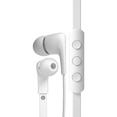 T00094 a-JAYS Five Earphones with 3-Button Remote and Mic for Android - White