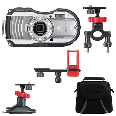 WG-4 16MP HD 1080p Waterproof Digital Camera Action Pack - Silver