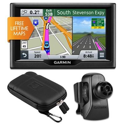 nuvi 57LM 5` Essential Series 2015 GPS w Lifetime Maps Vent Mount & Case Bundle