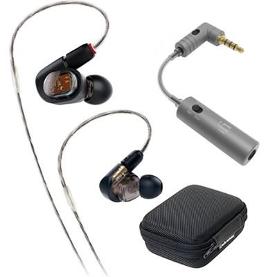 Professional In-Ear Monitor Headphone ATH-E70 w/ iFi Audio iEMATCH