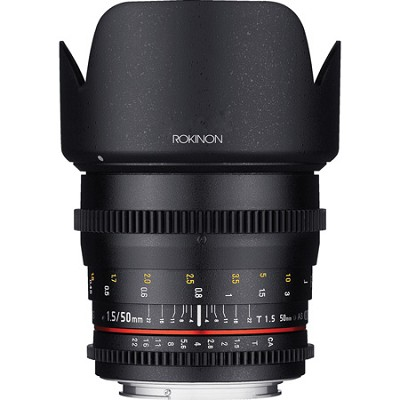 DS 50mm T1.5 Full Frame Wide Angle Cine Lens for Canon EF Mount - OPEN BOX