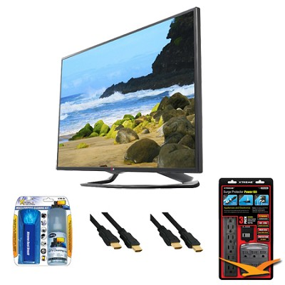 42LA6200 42` 1080p 3D Smart TV 120Hz Dual Core 3D Direct LED Value Bundle