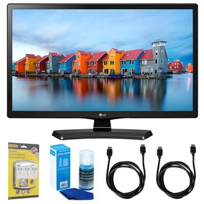 24LH4830-PU 24` Smart LED TV (2017 Model) w/ Accessories Bundle