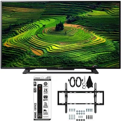 KDL-40R350D 40` Class Premium HD 1080p Smart LED TV w/ Tilt Wall Mount Bundle