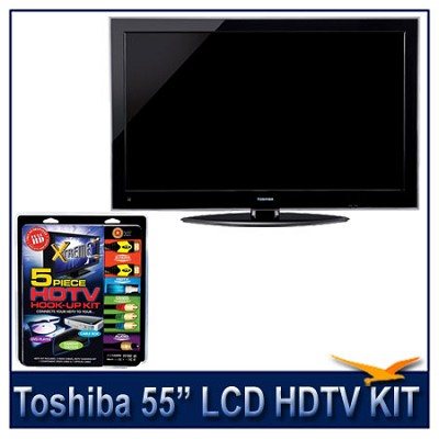 55` 1080p LED HDTV w/ Net TV + High-performance HDTV Hook-up & Maintenance Kit
