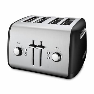 4-Slice Toaster with Manual High-Lift Lever in Onyx Black - KMT4115OB