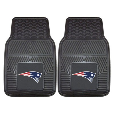 NFL New England Patriots Vinyl Heavy Duty Car Mat - Set of Two