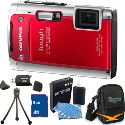 Tough TG-610 14MP Water/Shock/Freezeproof Digital Camera Red 8GB Kit