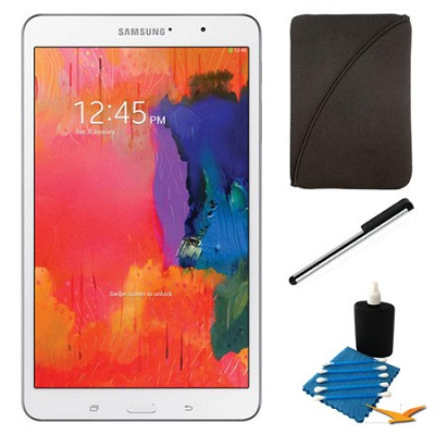Galaxy Tab Pro 8.4` White 16GB Tablet and Case Bundle