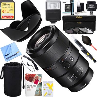 FE 90mm F2.8 Macro G OSS Full-frame E-mount Macro Lens + 64GB Ultimate Kit