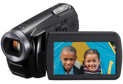 SDR-S7K SD Camcorder w/ 10x Optical Zoom (Black) - REFURBISHED