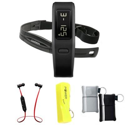 Vivofit Fitness Band Bundle with Heart Rate Monitor (Black) w/ Power Bank Bundle