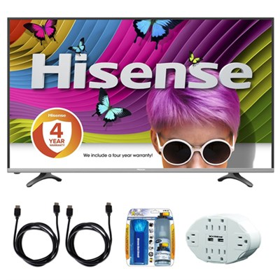 H8 55` Class 60Hz 4K UHD Smart LED TV Local Dimming  w/ accessory bundle