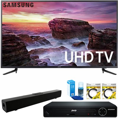 58` Smart LED 4K UHD TV w/ Wi-Fi + HDMI DVD Player & Sound Bar Bundle