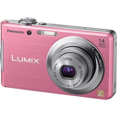 Lumix DMC-FH2 14MP Pink Compact Digital Camera w/ 720p 30 fps HD Video