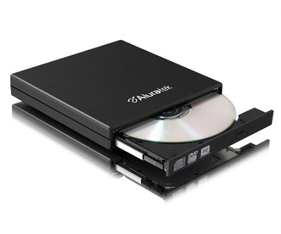 USB 2.0 External Slim Multi-Format 8X DVD Writer with Software - AEOD100F