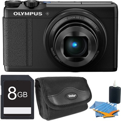 XZ-10 12MP Digital Camera f1.8 Lens 3` Touch LCD 1080p Video - Black 8 GB Kit