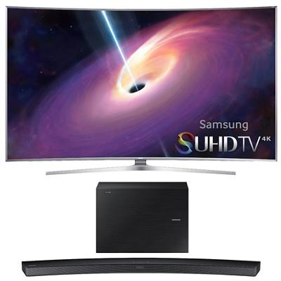 UN65JS9000 - 65-Inch Curved 4K 120hz SUHD 3D LED TV w/ HW-J6000 Soundbar Bundle