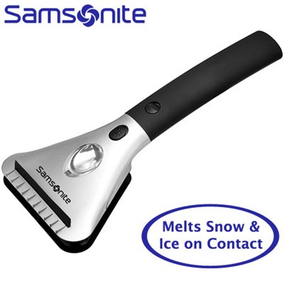 Heated Car Window Snow and Ice Scraper with Built-In Flashlight - OPEN BOX