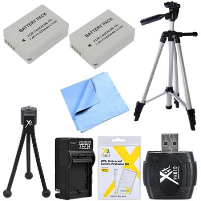 Advanced NB-10L Battery Bundle for Canon Powershot G16, SX50, G1X, SX60 Cameras