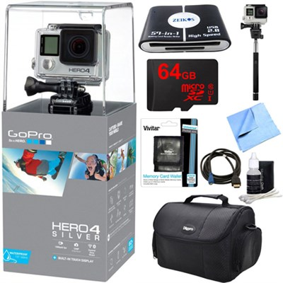 HERO 4 Silver Action Camera Ready For Adventure Kit