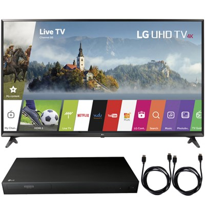 65UJ6300 - 65` UHD 4K HDR Smart LED TV (2017 Model) + Blu-Ray Player Bundle