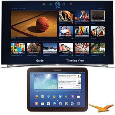 UN75F8000 - 75` 1080p 240hz 3D Smart Wifi LED HDTV - 10.1` Galaxy Tab 3 Bundle