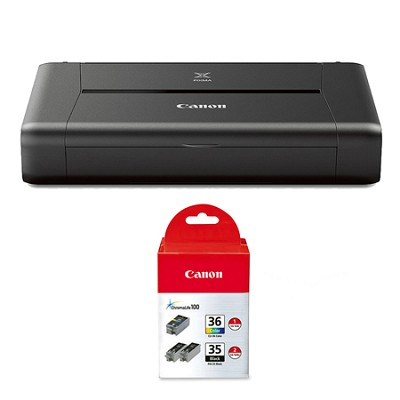 PIXMA iP110 Mobile Photo Printer with Inks Bundle