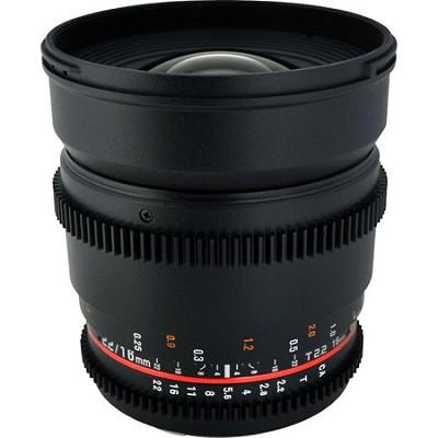 CV16M-NEX 16mm T2.2 Cine Wide Angle Lens for Sony E-Mount Cameras