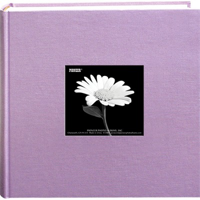 DA-200CBF Fabric Cover w/ Frame 200 4x6` Photo Memo Album (Misty Lilac)