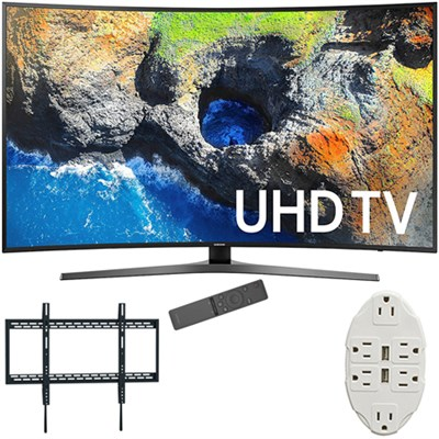 65` Curved 4K Ultra HD Smart LED TV 2017 Model with Wall Mount Bundle