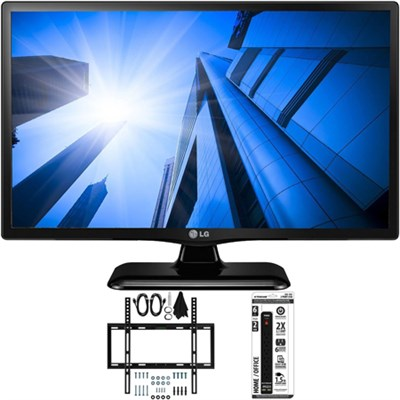 LG24LF452B - 24-Inch HD 720p 60Hz LED TV w/ Slim Flat Wall Mount Bundle