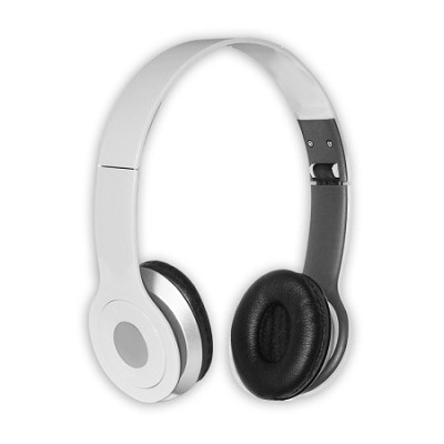 Foldable Over-the-head Headsets with Built-in-mic in White