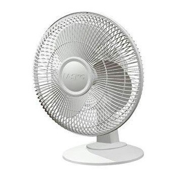 3-Speed 12-inch Table Fan - White