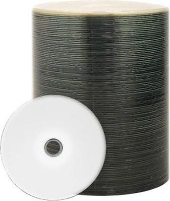 (Taiyo Yuden) 52X White Inkjet Hub-printable CDR Media. 100 Disc Tapewrapped