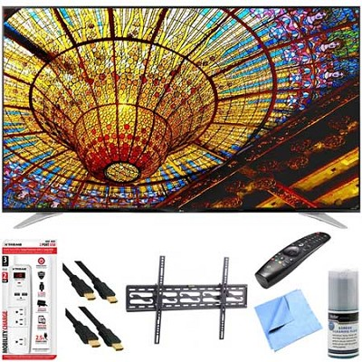 65UF7700 - 65` 240Hz 2160p 4K Smart LED UHD TV Plus tilt Mount & Hook-Up Bundle