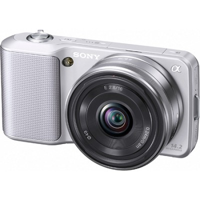 Alpha NEX-3 Interchangeable Lens Silver Digital Camera w/ 16mm Lens