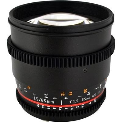 85mm T1.5 Aspherical Cine Lens for Canon EF Mount