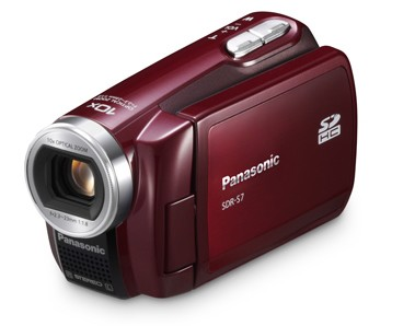 SDR-S7R SD Camcorder w/ 10x Optical Zoom (Red) - OPEN BOX
