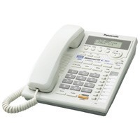 KX-TS3282W 2 Line Corded Telephone Speakerphone,Caller ID,Up To 8 Phone Extensi