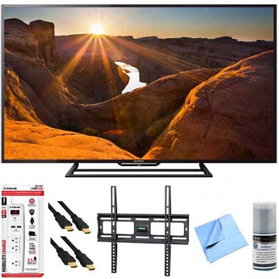 KDL-48R510C - 48-Inch Full HD 1080p 60Hz Smart LED TV Mount & Hook-Up Bundle