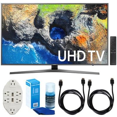 54.6` 4K Ultra HD Smart LED TV (2017 Model) w/ Accessories Bundle