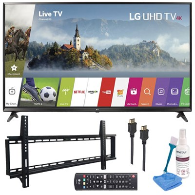 65UJ6300 - 65` UHD 4K HDR Smart LED TV (2017 Model) with Wall Mount Kit