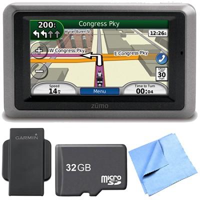 zumo 660 Motorcycle GPS With Lifetime Map Updates Weather Cap Bundle