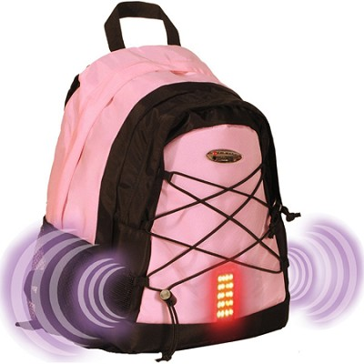Guardian School/College Travel Nylon Laptop Shoulder Backpack/Bag - Pink