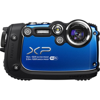 FinePix XP200 Blue 16MP Waterproof Digital Camera with 3-Inch LCD (Blue)